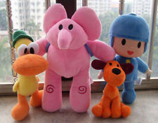 4pcs / One Set  Bandai Pocoyo Elly Pato Loula Soft Plush Stuffed Figure Toy Doll
