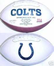 Indianapolis Colts Rawlings NFL White Panel Team Full Size Fotoball Football