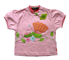 Oilily ✿ NWT✿ Girls Pink Butterfly Embroidered Top Tee sz 92 / 2 ✿ Designer