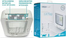 BIANCO SureFLAP Pet Door grandi Catflap 32 Microchip IDS Big Gatto Cane Piccolo