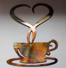 "Steamed with Love Coffee Metal Wall Decor 9 3/4"" x 6 1/2"""