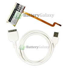 Replacement Battery 616-0232+USB Sync Cable for Apple iPod 7th Gen Classic 80GB