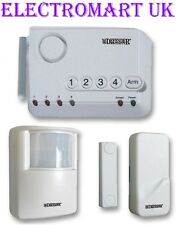 WIRELESS SECURITY PIR MAGNETIC DOOR WINDOW CONTACTS SENSOR ALARM SYSTEM