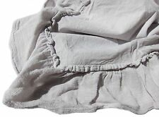 New Portugal PIUBELLE 3pc 100% Cotton Light Gray Ruffled Duvet Set - QUEEN