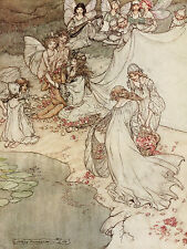 NOTTI di mezza estate Sogno Arthur Rackham REPRO a5 Glossy Photo Print Changeling