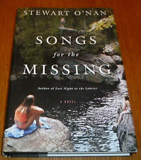 Songs for the Missing - Stewart O'Nan - HC w/DJ  - NEW