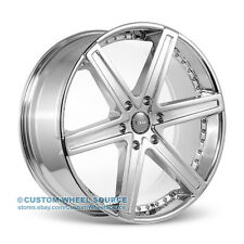 "24"" Dcenti DW6 Chrome Wheel and Tire Package Rims Cadillac Chevy Chevrolet"