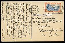 Bahamas 1953 CPP tetto di paglia palma & HUT per USA kgvi 4D Nassau MACCHINA Annulla