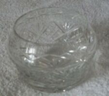 Crystal Glass Victorian Style Heavy FRUIT NUT CENTRE PIECE DRESSING TABLE Bowl