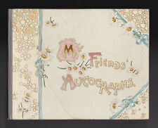 Fred E Weatherly -  My Friends Autographs - Ernest Nister 1894, Victorian Book