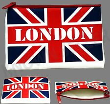 Ladies Union Jack Zip Coin Pouch Wallet Change Purse Soft Leather Look New