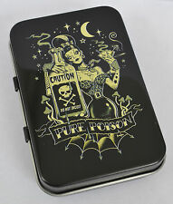 SCREAMING DEMONS PURE POISON PSYCHOBILLY TATTOO MOON  GOTH HINGED TIN MINTS PILL