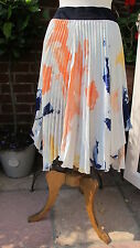 lovely new 100% ZARA silky floaty pleated handkerchief hem SKIRT medium bnwt