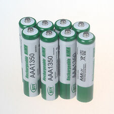 8pcs BTY Battery 1.2V AAA 3A 1350mAh Ni-MH rechargeable battery - Green