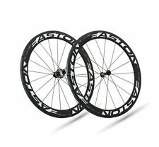 NEW Easton EC90 AERO Tubular 56mm Carbon Fiber Road Bike Wheelset Wheels Shimano