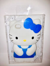 Hello Kitty iPhone 4 4S Blue Bow Silicone Plastic Case Apple  *Brand New in Box*