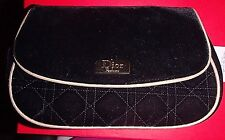 DIOR PARFUMS MAKE UP BAG BLACK VELVET  WITH GOLD TRIM Cosmetic, Jewelry BAG
