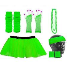 NEON TUTU SKIRT FANCY DRESS & ACCESSORIES HEN PART UV RAVE RACE FOR LIFE PARTY