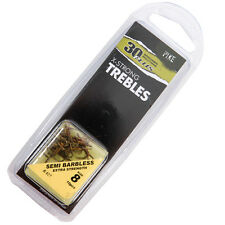 30+ PLUS SEMI-BARBLESS  X-STRONG TREBLES 6's Pack of x 10