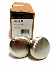 "Pair Baldwin ""The Estate Collection"" Pewter Satin Finish Door Knobs $150 Retail"