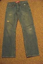 mens juniors levis 514 slim straight distressed light wash denim jeans 27 x 27.5