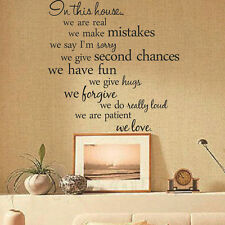 WE DO IN THIS HOUSE Wall Sticker Mural Art Kitchen quote New Arrival