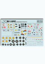 Print Scale Decals 1/144 Wet Decals - Messerschmitt Bf 109E