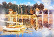 Claude Monet Hafen von Argenteuil Poster Kunstdruck Bild 100x70cm - Portofrei