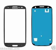 Samsung Galaxy S3 SIII I9300 I9305 Display Glas Touch Screen Front Glass Schwarz