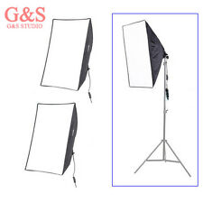 "2pcs Photo Studio continuous Lighting Softbox Video Light E27 50*70cm/20*28"" kit"