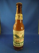 Vintage Heileman's Old Style Lager G. Heileman Brewing Co. Glass Beer Bottle