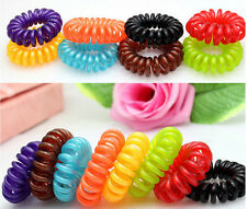 5Pcs Women's Colorful Girl Elastic Rubber Hair Ties Band Rope Ponytail Holder