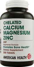 Chelated Calcium Magnesium Zinc, American Health, 250 tablets