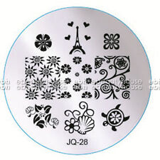 New Design DIY Nail Art Image Stamp Stamping Plates Manicure Template #JQ-28