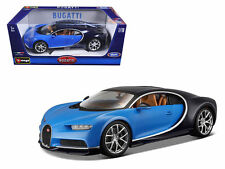 Bburago 1:18 Bugatti Chiron Diecast Model Car Vehicle New In Box 18-11040 Blue