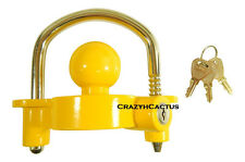 "Hitch Ball Coupler Lock Trailer Works on 2"" 1 7/8"" Balls Keyed Alike! 3 Keys!"