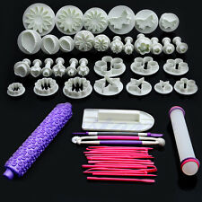 53Pcs Fondant Cake Decorating Flower Sugarcraft Cutter Tools Cookies Icing Mold