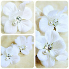 3 x Bridal Wedding Flower Hair Clip Barrette Brooch Womens Girls Accessories