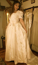 Vintage 1980's Champagne Wedding Gown by Priscilla of Boston