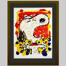TOM EVERHART signed SNOOPY original litho SQUEEZE THE DAY Charles Schulz COA fr.