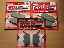 SUZUKI GSR 750 (2011-2013)   FULL SET SINTERED BRAKE PADS (3x Sets)   GSR750