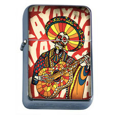 Windproof Refillable Flip Top Oil Lighter Mariachi D7 Mexican Band Spanish Music