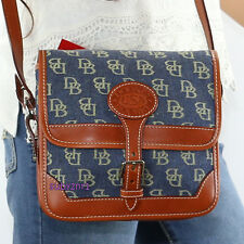 NWT Dooney & Bourke Signature Small Surrey Crossbody Bag SP94 EX Denim Blue NEW