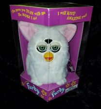 1998 FURBY 1ST. GENERATION Tiger Electronics White Pink Ears NIB Model #70-800