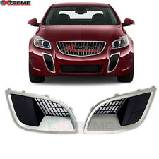 FRONT SILVER/BLACK ASSEMBLY FOG LAMP GRILLE VENT COVER FOR 09-16 REGAL GS BUICK