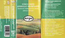 Mormon Tabernacle Choir 'SONGS FROM AMERICA'S HEARTLAND' Audio Cassette - Argo