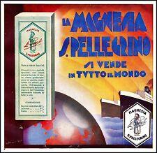 PUBBLICITA' MAGNESIA S.PELLEGRINO PRODEL VIAGGIO NAVI MONDO CONFEZIONE 1932