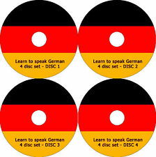 Learn how to speak German language course 4CD set 24 hours of talk lessons + PDF
