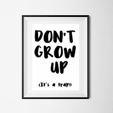 Inspirational Quote Poster Art Print A4 Typography Decor gift wall decor good