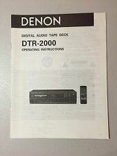 DENON DTR-2000 DAT Recorder Owner's Manual Original - NOS